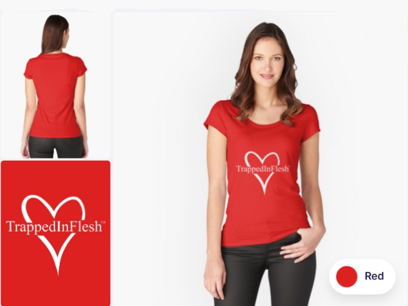 1_Redbubble_TrappedInFlesh™-Fitted-Scoop-T-Shirt
