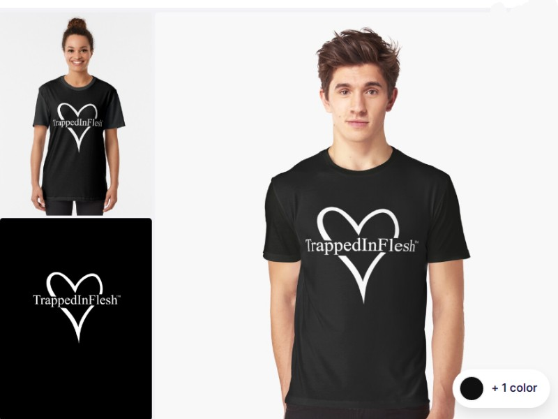 1_Redbubble_TrappedInFlesh™-Graphic-T-Shirt