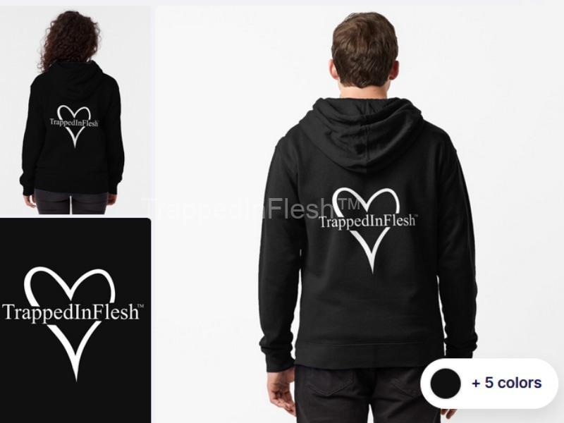 TrappedInFlesh™-Zipped-Hoodie
