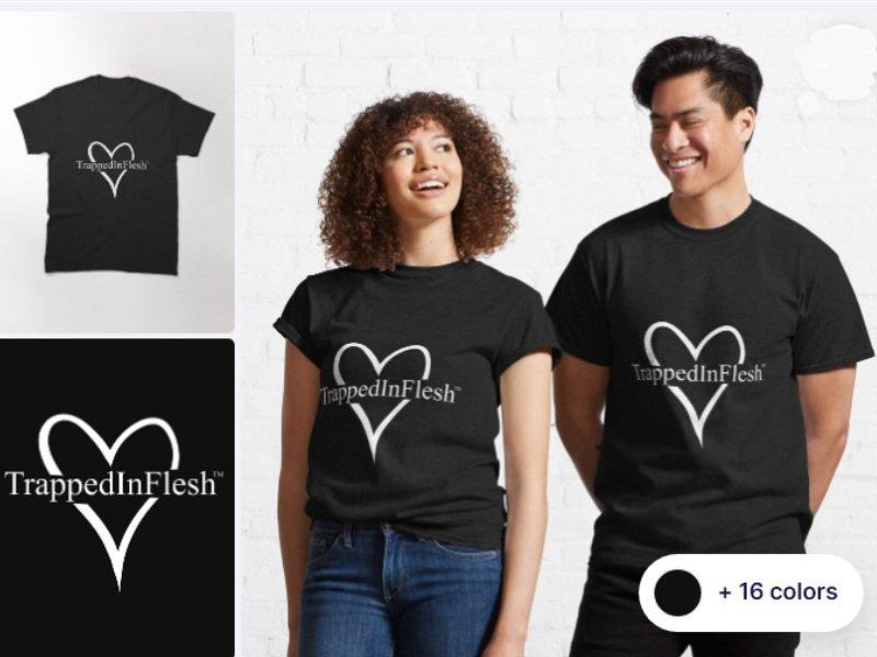 1_Redbubble_TrappedInFlesh™-Classic-T-Shirt