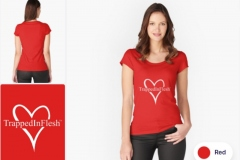 Redbubble_TrappedInFlesh™-Fitted-Scoop-T-Shirt